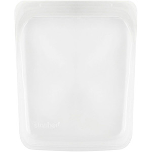 Stasher, Reusable Silicone Food Bag, Half Gallon Bag, Clear, 64.2 fl oz (1.92 l) отзывы