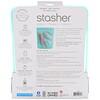 Stasher, Многоразовый силиконовый контейнер для еды, объем в полгаллона, голубой, 1,92л (64,2жидк.унции)