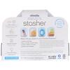 Stasher, 可重複利用的矽膠包,透明和溶液,2 包,每包 4 盎司(42 克)