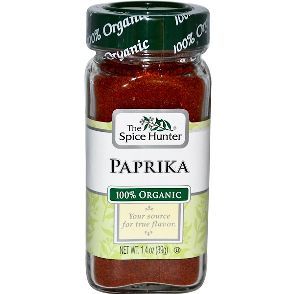 Spice Hunter, Organic Paprika, Ground, 1.4 oz (39 g) (Discontinued Item)