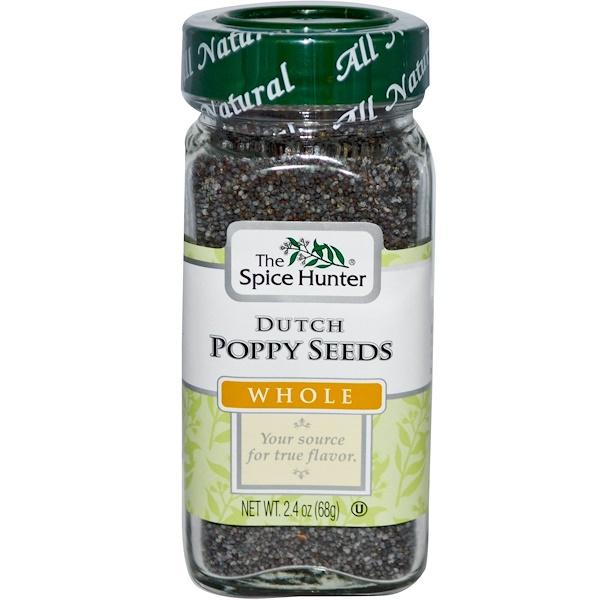Spice Hunter, Dutch Poppy Seeds, Whole, 2.4 oz (68 g) (Discontinued Item)