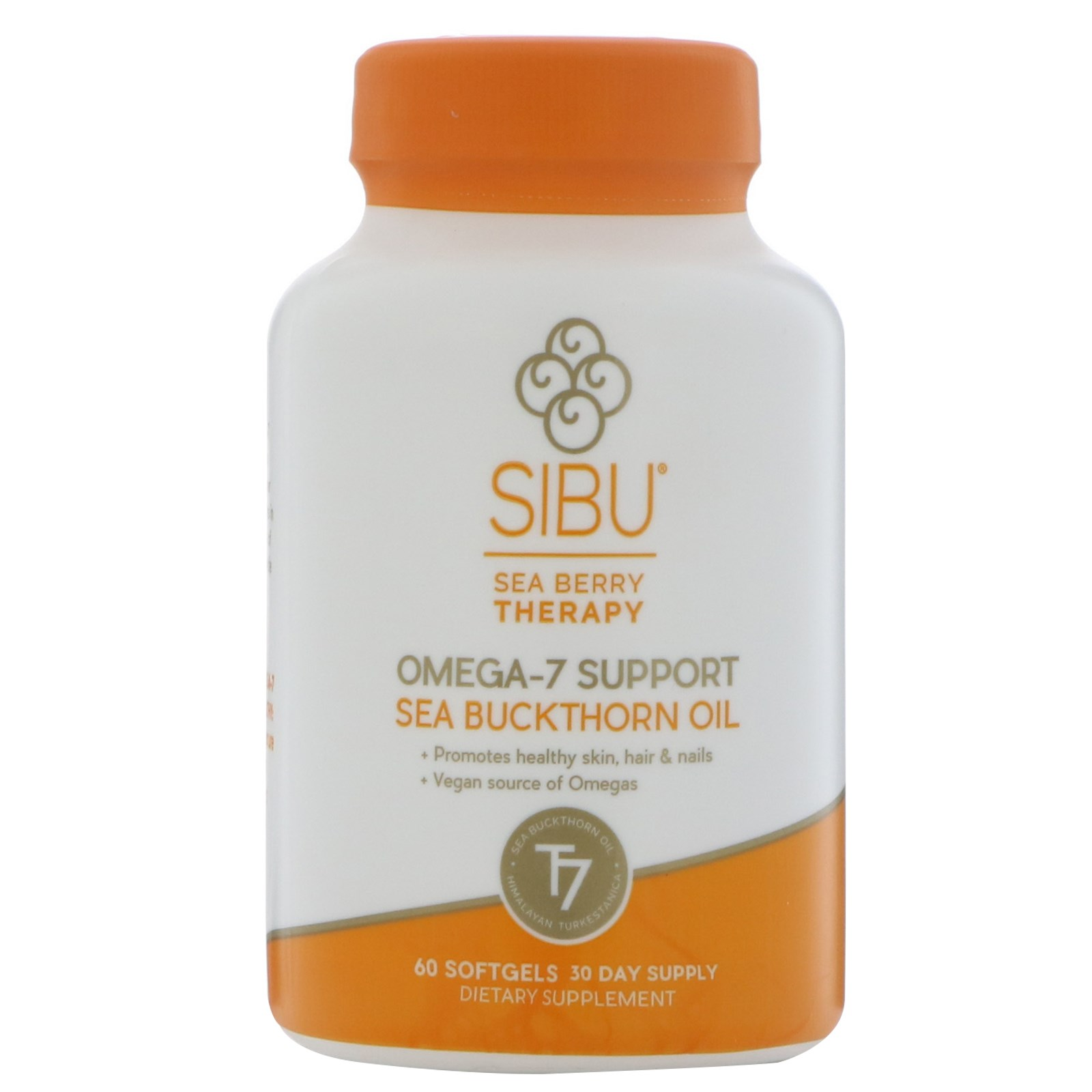 Sibu Beauty, Sea Berry Therapy, поддержка омега-7, облепиховое масло, 60 желатиновых капсул