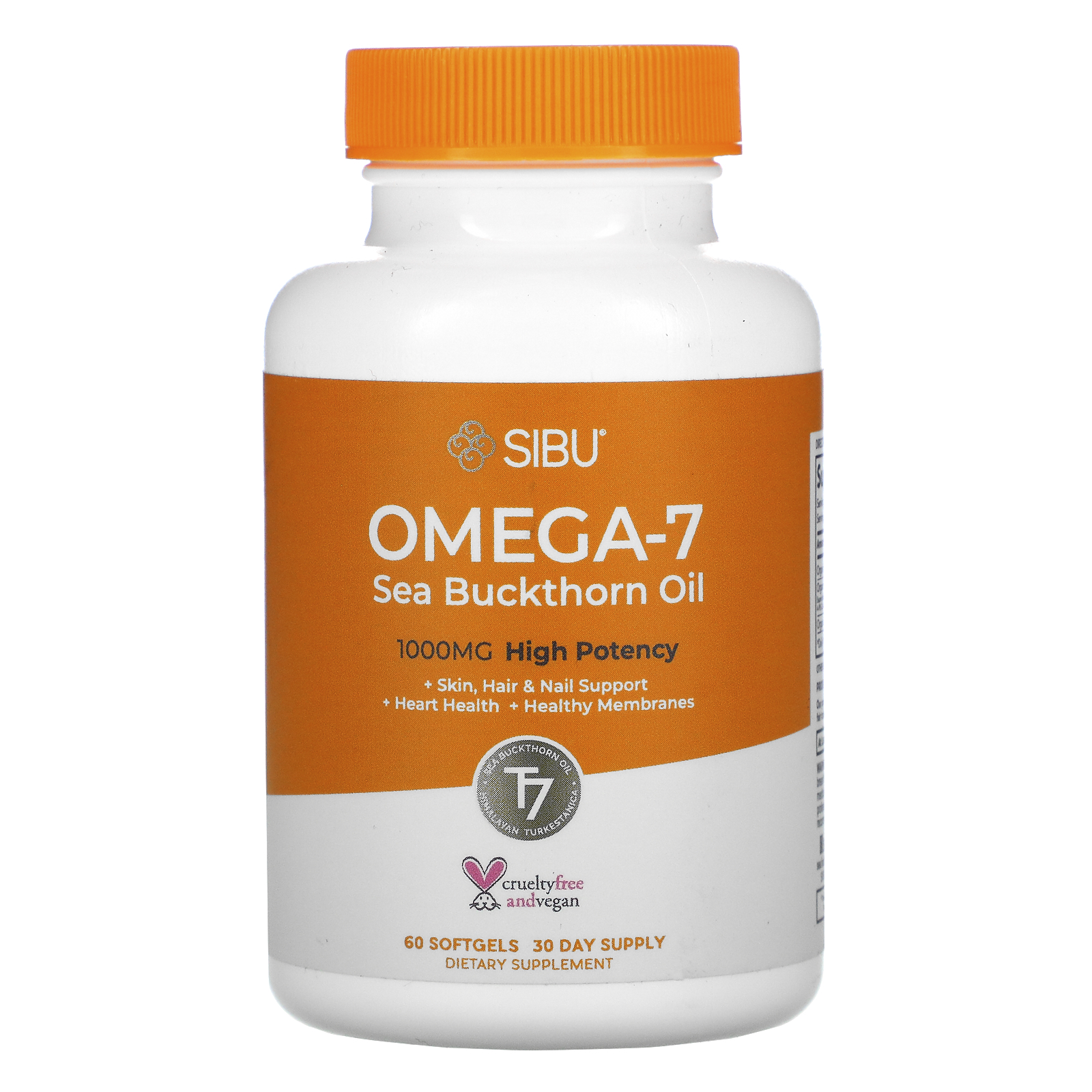 Sibu Beauty Sea Berry Therapy Omega 7 Support Sea Buckthorn Oil 60 Softgels Iherb