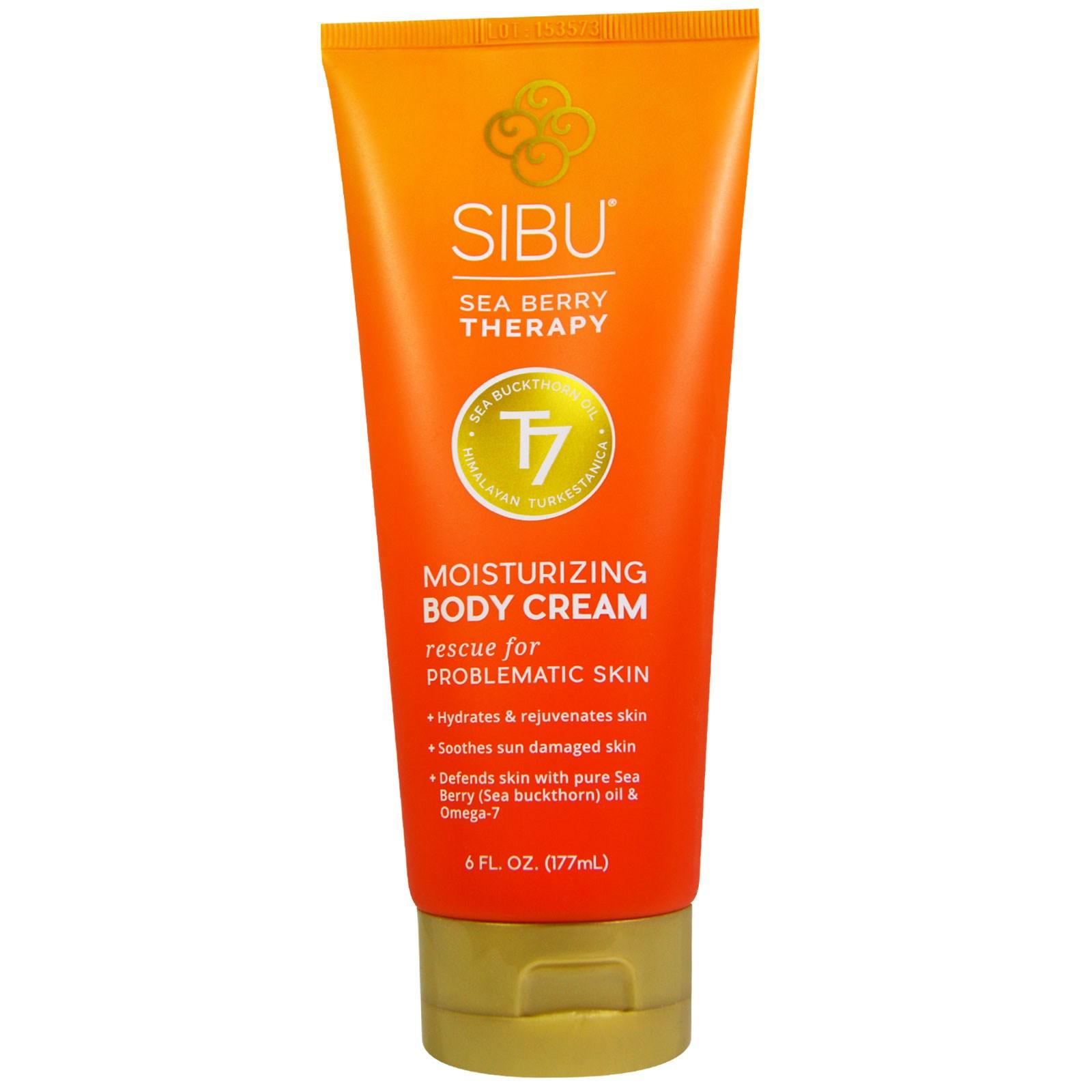 """Sibu Beauty, Лечебный увлажняющий крем для тела """"Морская ягода"""", 177 мл (6 жидких унций)"""