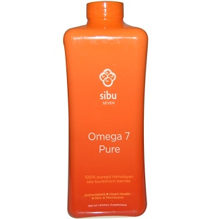 Sibu Beauty, Omega 7 Pure, 100% Pureed Himalayan Sea Buckthorn Berries, 750 ml