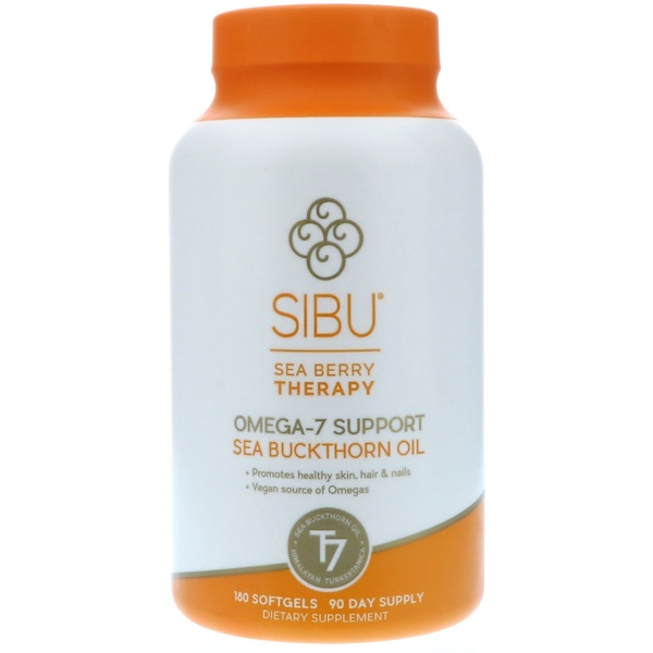 Sibu Beauty, Sea Berry Therapy, Omega-7 Support, Sea Buckthorn Oil, 180 Softgels