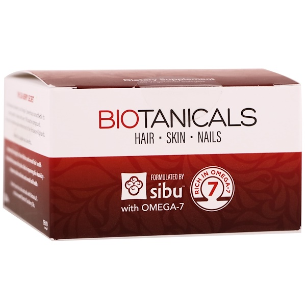 Sibu Beauty, Biotanicals, Hair, Skin, Nails with Omega-7, 60 Vegetarian Softgels (Discontinued Item)