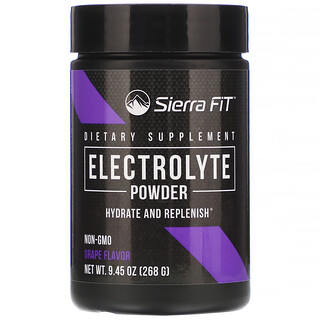Sierra Fit, Électrolytes en poudre, 0calorie, Raisin, 268g