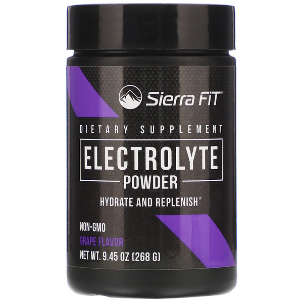 Electrolyte Powder, 0 Calories, Grape, 9.45 oz (268 g)
