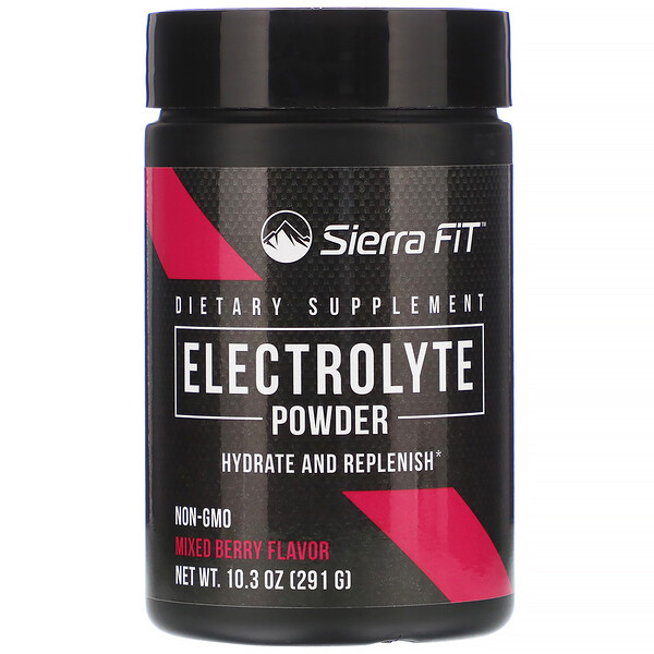Sierra Fit, Electrolyte Powder, 0 Calories, Mixed Berry, 10.3 oz (291 g)