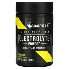 Sierra Fit, 电解质粉,0 卡路里,柠檬水,10.5 盎司(299 克)