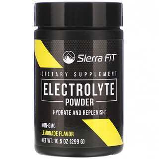 Sierra Fit, Electrolyte Powder, 0 Calories, Lemonade, 10.5 oz (299 g)
