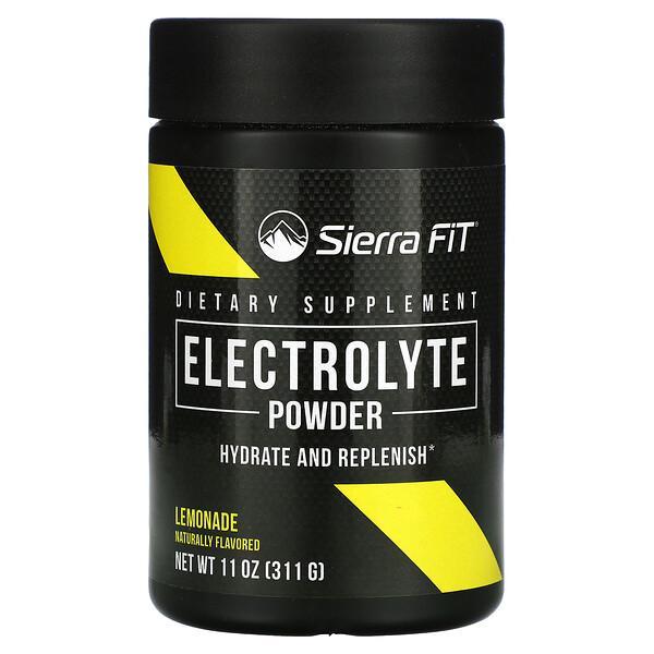Sierra Fit, Electrolyte Powder, Elektrolyt-Pulver, 0 Kalorien, Limonade, 299g (10,5oz.)