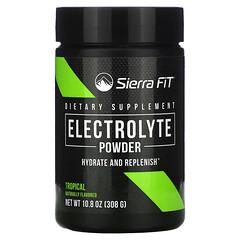 Sierra Fit, Порошок электролитов со вкусом тропических фруктов, 0 калорий, 308г (10,8унции)
