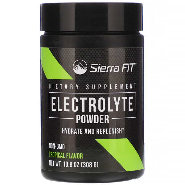 Sierra Fit, Electrolyte Powder, 0 Calories, Tropical, 10.8 oz (308 g)