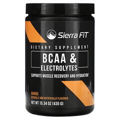 Sierra Fit, 支鏈氨基酸與電解質,7G 支鏈氨基酸,芒果味,15.34 盎司(435 克)