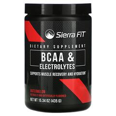 Sierra Fit, аминокислоты с разветвленными цепями (BCAA) и электролиты, 7г BCAA, со вкусом арбуза, 435г (15,34унции)