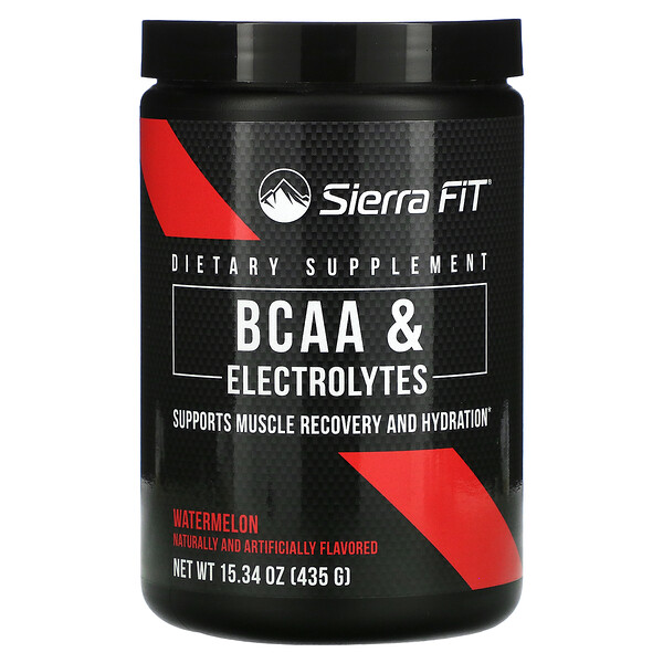 BCAA & Electrolytes, 7G BCAAs, Watermelon, 15.34 oz (435 g)