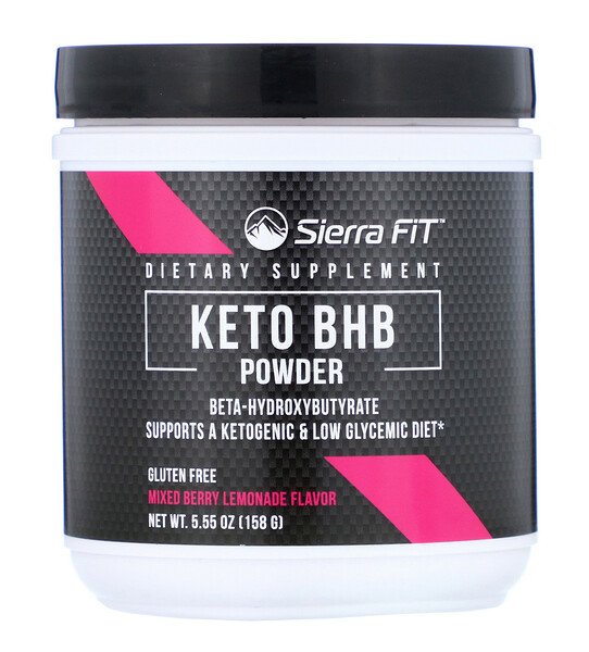 Sierra Fit, Keto BHB Powder, Beta-Hydroxybutyrate, Mixed Berry Lemonade, 5.55 oz (158 g)
