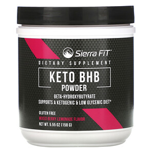 Sierra Fit, Keto BHB Powder, Beta-Hydroxybutyrate, Mixed Berry Lemonade, 5.55 oz (158 g) отзывы покупателей
