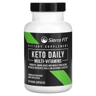 Sierra Fit, Keto Daily Multi-Vitamins with Green Tea, 90 Veggie Capsules