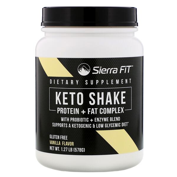Keto Shake, Vanilla Flavor, 1.27 lbs (578 g)