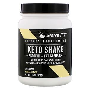 Sierra Fit, Keto Shake, Vanilla Flavor, 1.27 lbs (578 g)