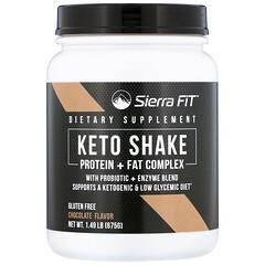 Sierra Fit, Keto Shake, Chocolate, 1.49 lbs (675 g)