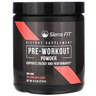 Sierra Fit, 预锻炼营养粉,西瓜味,9.5 盎司(270 克)