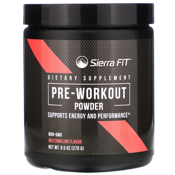 Pre-Workout Powder, Watermelon Flavor, 9.5 oz (270 g)
