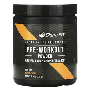 Sierra Fit, Pre-Workout Powder, Mango Flavor, 9.5 oz (270 g)