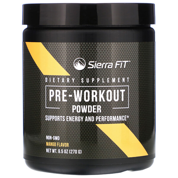 Pre-Workout Powder, Mango, 9.5 oz (270 g)