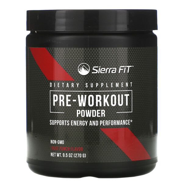 Pre-Workout Powder, Fruit Punch, 9.5 oz (270 g)
