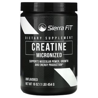 Sierra Fit, Micronized Creatine Powder, без ароматизаторов, 454г (16унций)