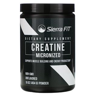 Sierra Fit, Micronized Creatine Powder, Unflavored, 16 oz (454 g)