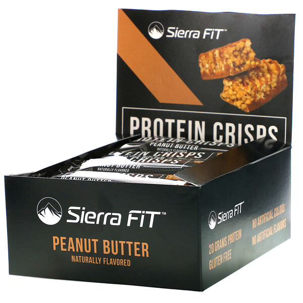 Protein Crisps, Peanut Butter, 12 Bars, 1.98 oz (56 g) Each
