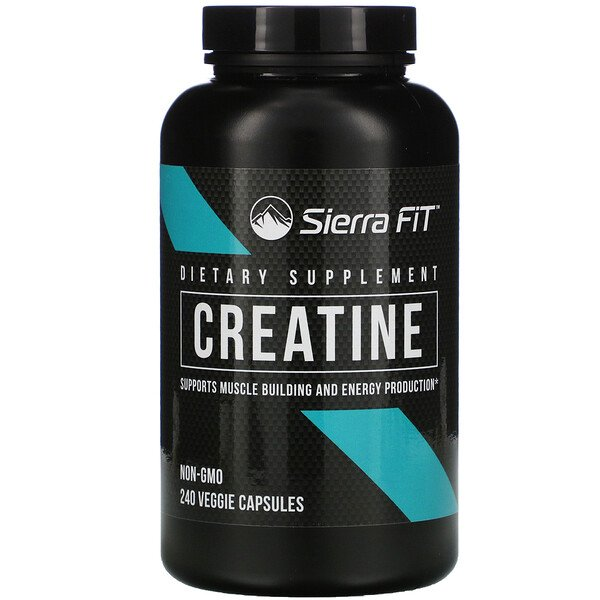 Creatine, 750 mg, 240 Veggie Capsules
