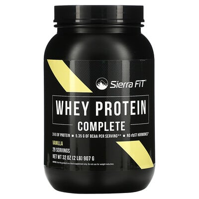 Sierra Fit Whey Protein Complete, Vanilla, 2 lbs (907 g)