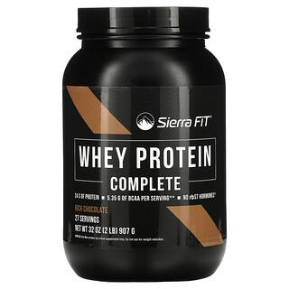 Sierra Fit, WheyProteinComplete, сывороточный протеин, насыщенный шоколад, 907г (2фунта)