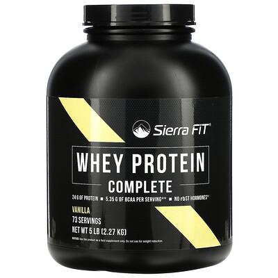 Sierra Fit Whey Protein Complete, Vanilla, 5 lbs (2.27 kg)