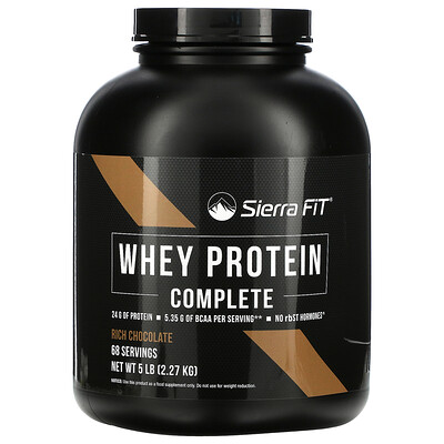 Sierra Fit Whey Protein Complete, Rich Chocolate, 5 lbs (2.27 kg)