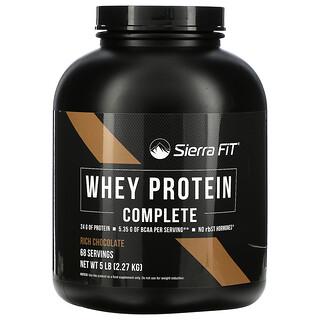 Sierra Fit, WheyProteinComplete, сывороточный протеин, насыщенный шоколад, 2,27кг (5фунтов)