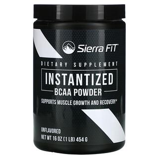Sierra Fit, Instantized BCAA Powder, Instant-BCAA-Pulver, geschmacksneutral, 454g (16oz.)