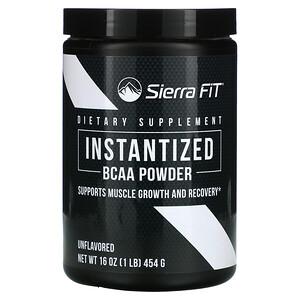 Sierra Fit, Instantized BCAA Powder, Unflavored, 16 oz (454 g)