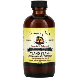 Sunny Isle, 100% Natural Jamaican Black Castor Oil, Ylang Ylang, 4 fl oz