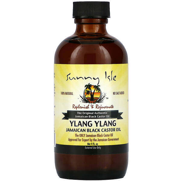 100% Natural Jamaican Black Castor Oil, Ylang Ylang, 4 fl oz