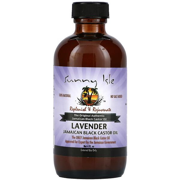 全天然牙买加黑蓖麻油,薰衣花草味,4 液量盎司