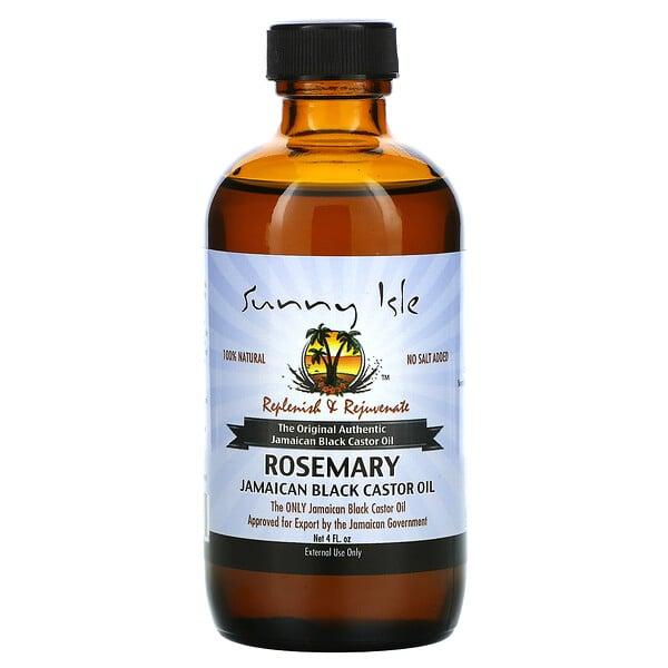 زيت الخروع الأسود الجامايكي الطبيعي 100%، إكليل الجبل، 4 أونصة سائلة