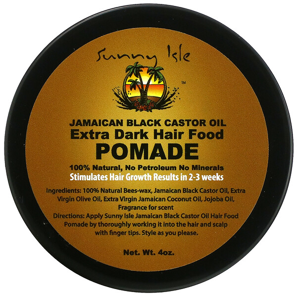 牙买加黑蓖麻油,纯黑润发油,4 盎司