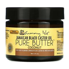 Sunny Isle, 牙買加黑蓖麻油,純黃油,椰子味,2 液量盎司
